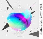 abstract colorful poster for... | Shutterstock .eps vector #609312974