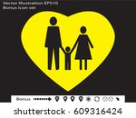 family  people  icon vector... | Shutterstock .eps vector #609316424