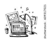vector illustration of a sketch ... | Shutterstock .eps vector #609317021