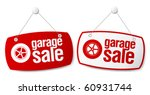 Garage for sale signs set. - stock vector