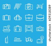 baggage icons set. set of 16... | Shutterstock .eps vector #609318389