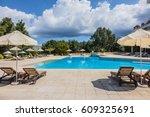 neos marmaras  greece   may 16  ... | Shutterstock . vector #609325691