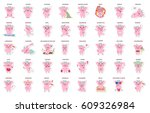 cute pig  stickers collection...