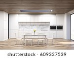 Kitchen Interior With An...