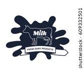 milk elegant  logo template....   Shutterstock . vector #609332501