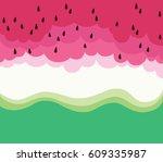 printable watermelon art | Shutterstock .eps vector #609335987
