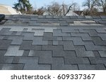 a close up view of shingles a... | Shutterstock . vector #609337367