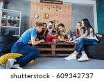 group of creative friends... | Shutterstock . vector #609342737