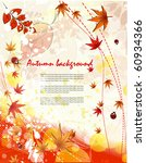 autumn vector background | Shutterstock .eps vector #60934366