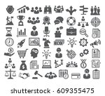 business icons set. icons for... | Shutterstock . vector #609355475