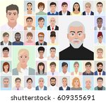 portraits of different people ... | Shutterstock .eps vector #609355691