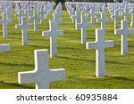 Rows Of White Crosses At The...