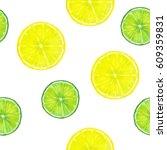 summer background. lemon and...   Shutterstock . vector #609359831