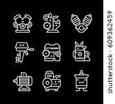 set line icons of motor and... | Shutterstock .eps vector #609362459