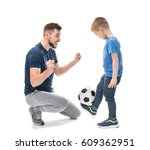 handsome man and his son with...   Shutterstock . vector #609362951