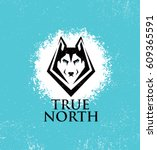 true north active lifestyle... | Shutterstock .eps vector #609365591