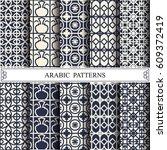 arabic vector pattern pattern... | Shutterstock .eps vector #609372419