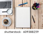 Working Desk In Office With Available Copy Space - stock photo