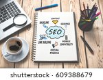 search engine optimization  seo ... | Shutterstock . vector #609388679