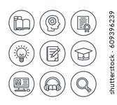 education  learning line icons... | Shutterstock .eps vector #609396239