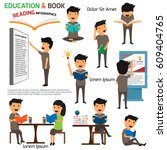 read and education infographics ... | Shutterstock .eps vector #609404765