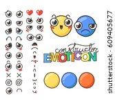 constructor of cute lovely...   Shutterstock .eps vector #609405677