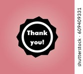 thank you sticker icon | Shutterstock .eps vector #609409331