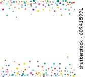 dense watercolor confetti on... | Shutterstock . vector #609415991
