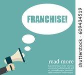 franchise. hand holding... | Shutterstock .eps vector #609434519