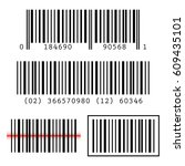set  collection of barcodes... | Shutterstock .eps vector #609435101
