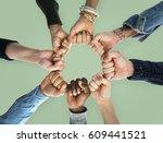 togetherness team alliance... | Shutterstock . vector #609441521