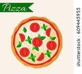 pizza vector illustration....   Shutterstock .eps vector #609445955