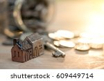 mortgage concept. money and... | Shutterstock . vector #609449714