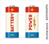 icon battery isolated on white... | Shutterstock .eps vector #609450494
