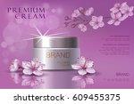 premium vip cosmetic ads ... | Shutterstock .eps vector #609455375