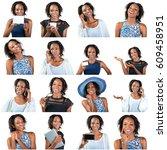 beautiful woman | Shutterstock . vector #609458951