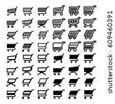 shopping cart web icons set.... | Shutterstock .eps vector #609460391