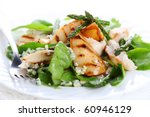 green salad mix with pears and... | Shutterstock . vector #60946129