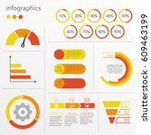 charts  graphs  circle diagram... | Shutterstock .eps vector #609463199