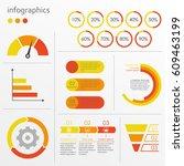 charts  graphs  circle diagram... | Shutterstock .eps vector #609463199