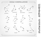 constellation star set  vector | Shutterstock .eps vector #609464831