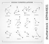 constellation star set  vector | Shutterstock .eps vector #609464831