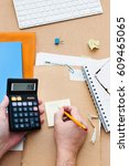 time to fill individual income... | Shutterstock . vector #609465065