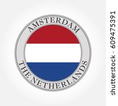 the netherlands or holland flag ... | Shutterstock .eps vector #609475391