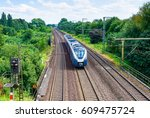 train ride on train railroads | Shutterstock . vector #609475724