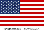 usa flag. united states of... | Shutterstock .eps vector #609480614