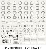 circle and square wicker... | Shutterstock .eps vector #609481859
