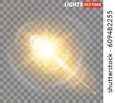 vector transparent sunlight... | Shutterstock .eps vector #609482255