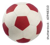 a red and white soccer ball... | Shutterstock . vector #60948310