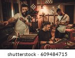 professional music band... | Shutterstock . vector #609484715